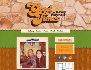 goodtimesatdaveywaynes.com screenshot