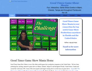 goodtimesgameshowmania.com screenshot