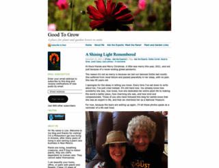 goodtogrow.wordpress.com screenshot