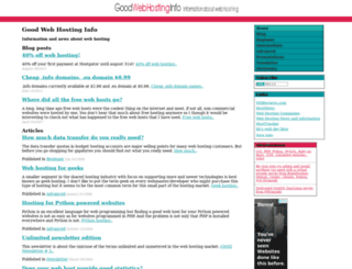 goodwebhosting.info screenshot