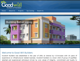 goodwillbuilders.in screenshot
