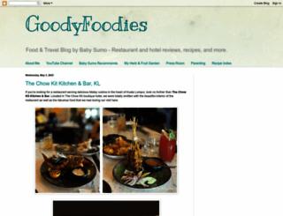 goodyfoodies.blogspot.co.nz screenshot