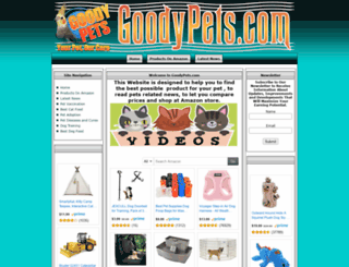 goodypets.com screenshot