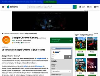 google-chrome-canary.softonic.fr screenshot