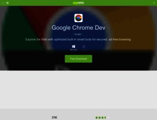 google-chrome-dev.apponic.com screenshot
