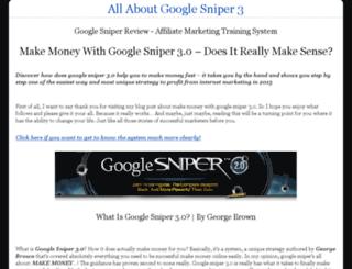 google-sniper-make-money.com screenshot