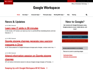 google.ncsu.edu screenshot