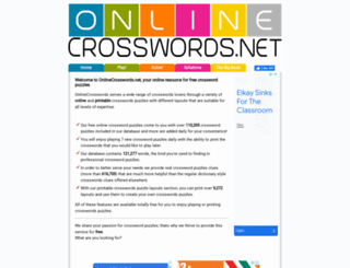 google.onlinecrosswords.net screenshot