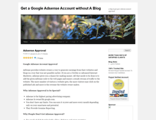 googleadsenseaccount.wordpress.com screenshot