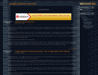 googleadsensesecrects.blogspot.com screenshot