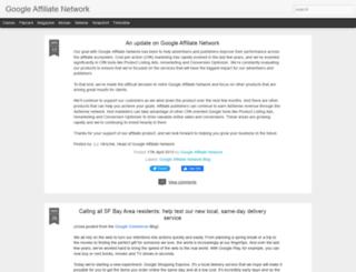 googleaffiliatenetwork-blog.blogspot.ca screenshot