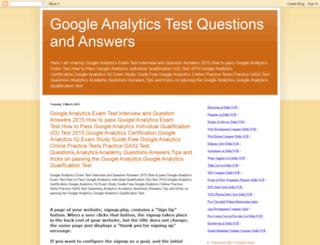 googleanalyticstestquestionanswer.blogspot.in screenshot