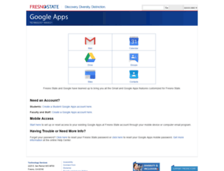 googleapps.fresnostate.edu screenshot