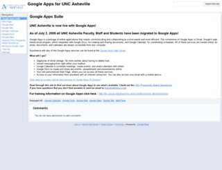 googleapps.unca.edu screenshot