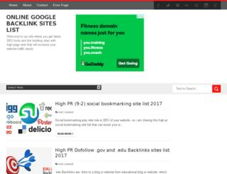 googlebacklinksites.com screenshot