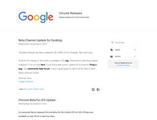 googlechromereleases.blogspot.kr screenshot