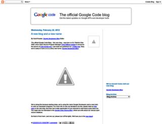 googlecode.blogspot.fr screenshot
