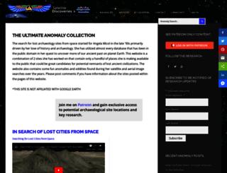 googleearthanomalies.com screenshot