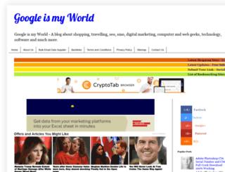 googleismyworld.blogspot.com screenshot