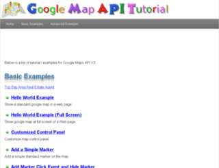 googlemapapitutorial.com screenshot