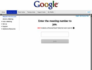 googleonline.webex.com screenshot