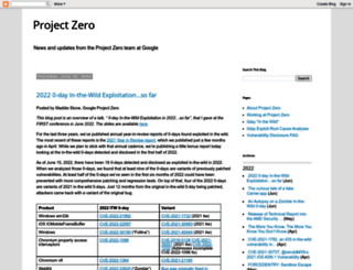 googleprojectzero.blogspot.com screenshot