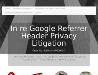 googlesearchsettlement.com screenshot