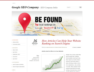 googleseocompanies.wordpress.com screenshot