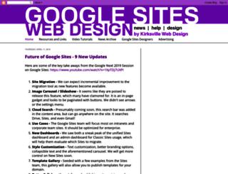 googlesiteswebdesign.com screenshot