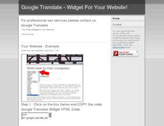 googletranslate.webeden.co.uk screenshot