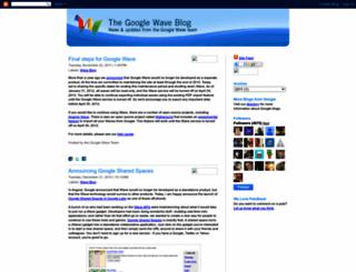 googlewave.blogspot.com screenshot