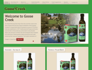 goosecreek.co.nz screenshot