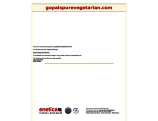 gopalspurevegetarian.com screenshot