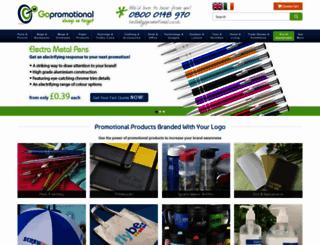 gopromotional.co.uk screenshot