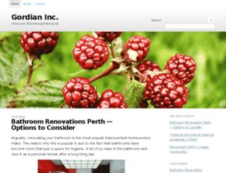 gordianinc.com screenshot