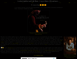 gordonlightfoot.com screenshot