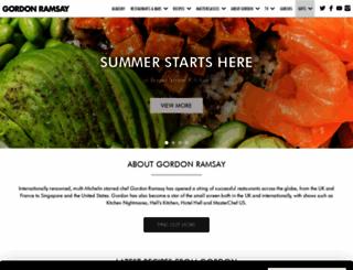 gordonramsay.com screenshot