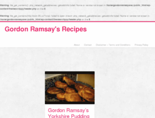 gordonramsaysrecipes.com screenshot