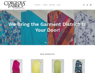 gorgeousfabrics.com screenshot