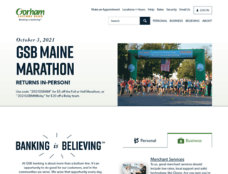 gorhamsavingsbank.com screenshot