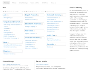 gorilla-directory.com screenshot