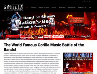gorillamusic.com screenshot