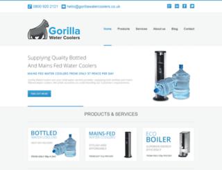 gorillawatercoolers.co.uk screenshot