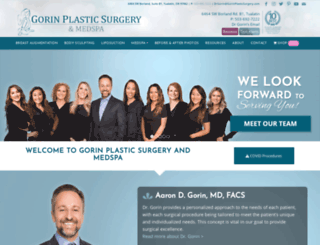 gorinplasticsurgery.com screenshot