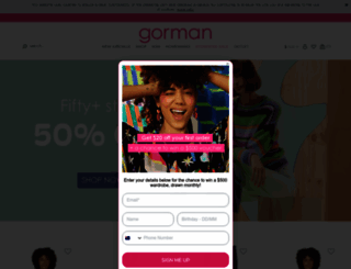 gormanshop.com.au screenshot