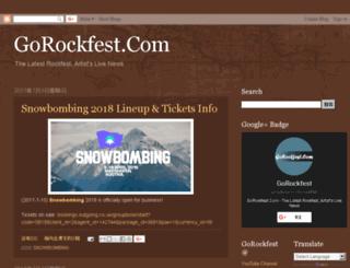 gorockfest.com screenshot