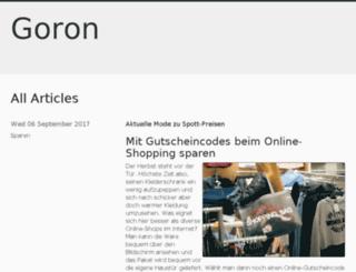 goron.de screenshot