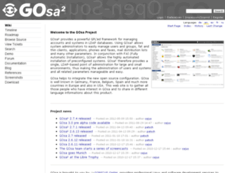 gosa-project.org screenshot