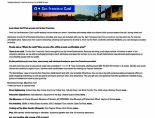 gosanfranciscocard.com screenshot