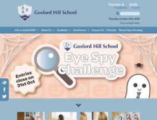 gosford-hill.oxon.sch.uk screenshot